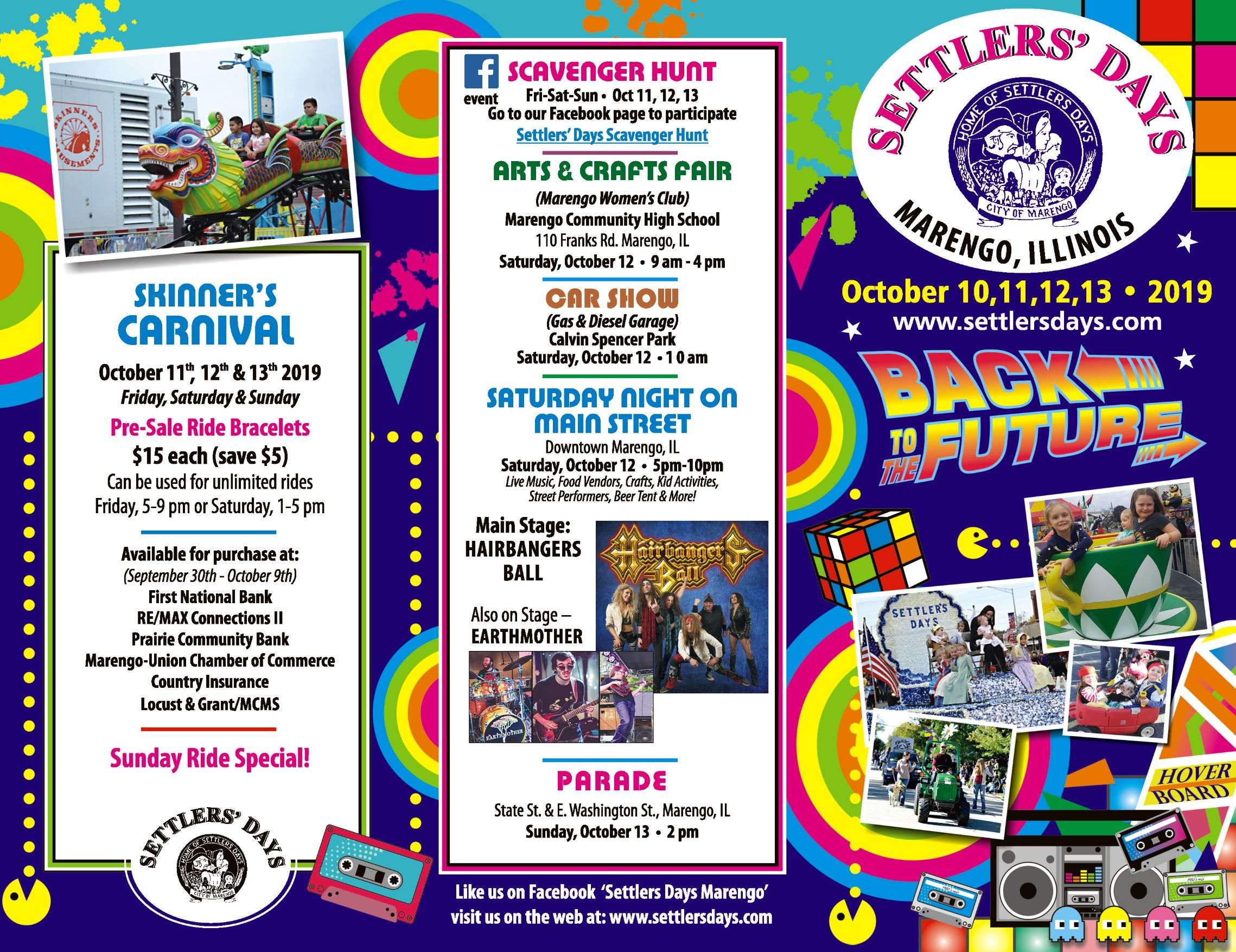 Settlers Days Brochure Outside 2019